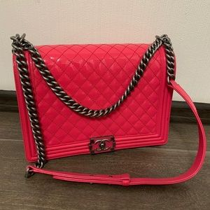Chanel le boy large pink